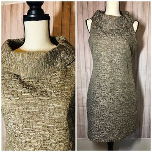 Micheal Kors Cowl neck sleeveless size 6 Gold